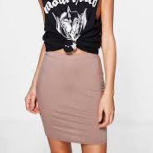 ⭐️4 for $15⭐️H&M Basic Mini Skirt in Taupe